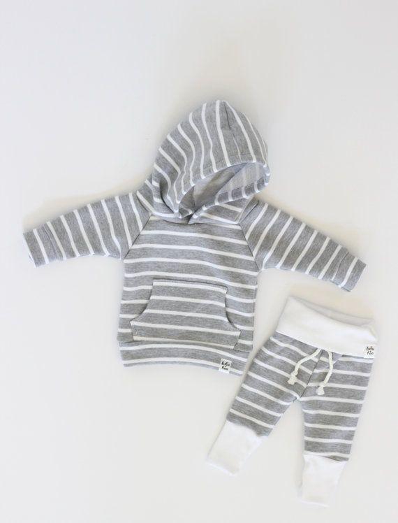 grey stripe sweatpants baby stripe sweats by ShopLuluandRoo