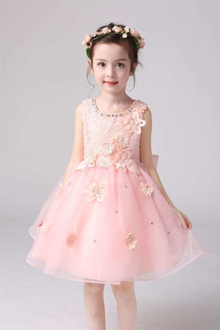 f36530641 2016 Cheap Girls Lace Dress Princess Bridesmaid Flower Girl Dresses ...