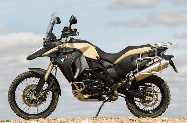 BMW F 800 GS Adventure in Sandrover matte with optional equipment.