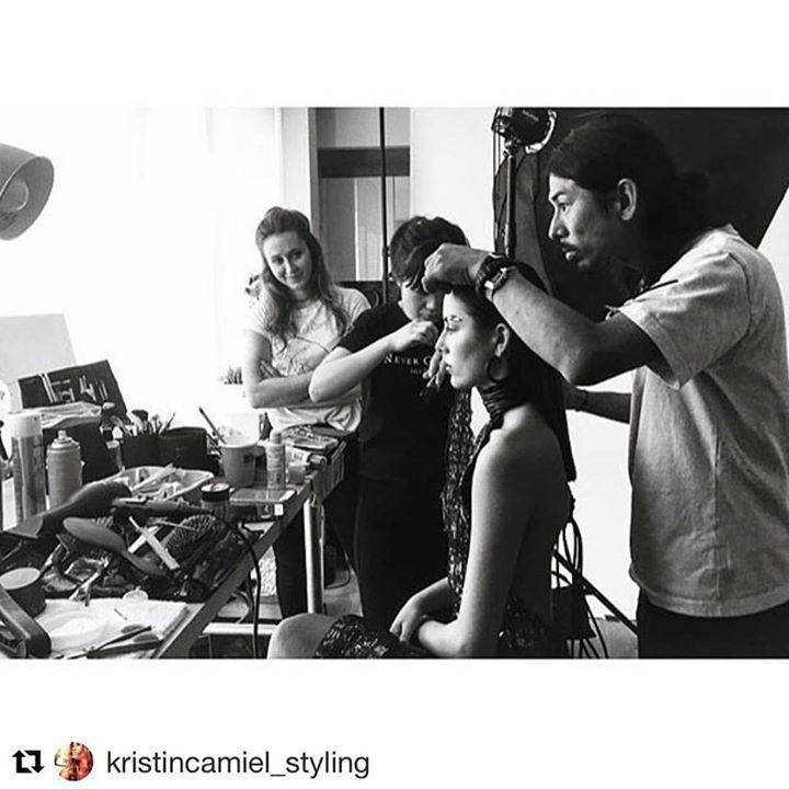 #Repost @kristincamiel_styling #NORELLxPARSONSxNM #fashiondiaries @neimanmarcus @parsonsschoolofdesign   Dream team hard at work! Thank you @tamingchenmakeup @tak8133 and @weiyuli  for your beautiful work and being such a wonderful team #norellnewyork #norellxparsonsxnm #parsons #parsonsdesign #parsonsfashion #fashiondesign #electricity #designer #designlife #designprocess #allthatglitters #eveningdress #emergingbrand #emergingdesigner #editorialhair #editorialmakeup #editorialstyling…