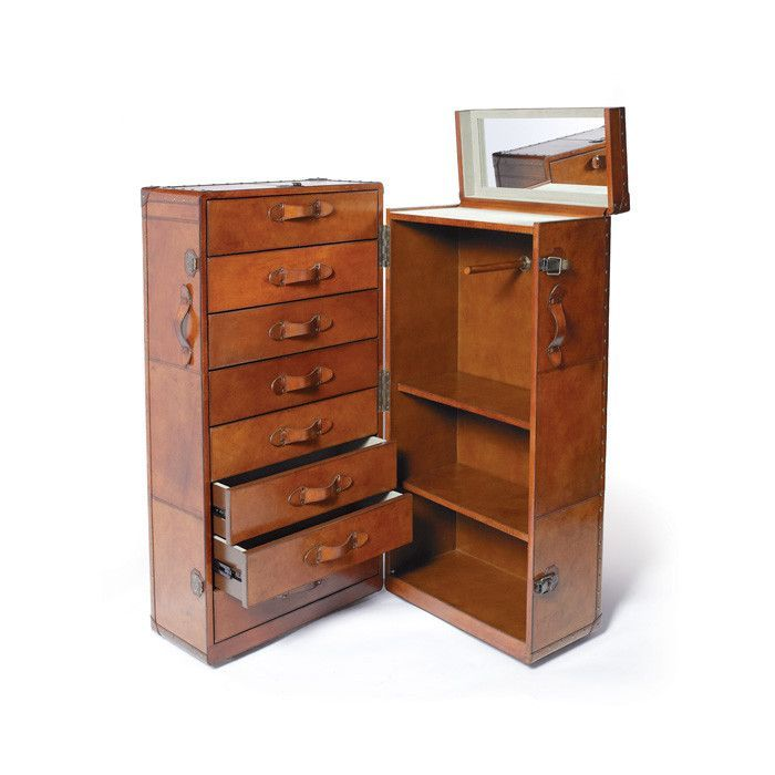Churchill Trunk & Wardrobe is designed in order to provide an ample storage space to your home. Whether store your clothes or other daily utility items like clips, pins and these wooden storage items