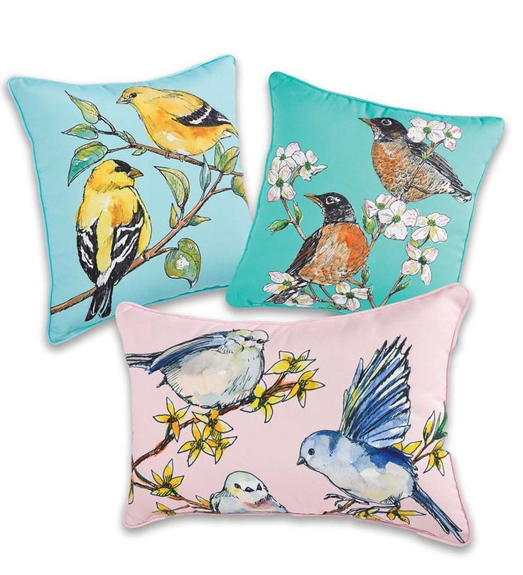 Bird Themed Throw Pillows : 69 best Outdoor Cushions, Throw Pillows & Umbrellas images on Pinterest Acorn, Decorative bed ...