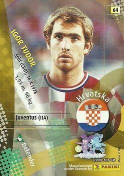 2002 Panini World Cup #64 Igor Tudor Back
