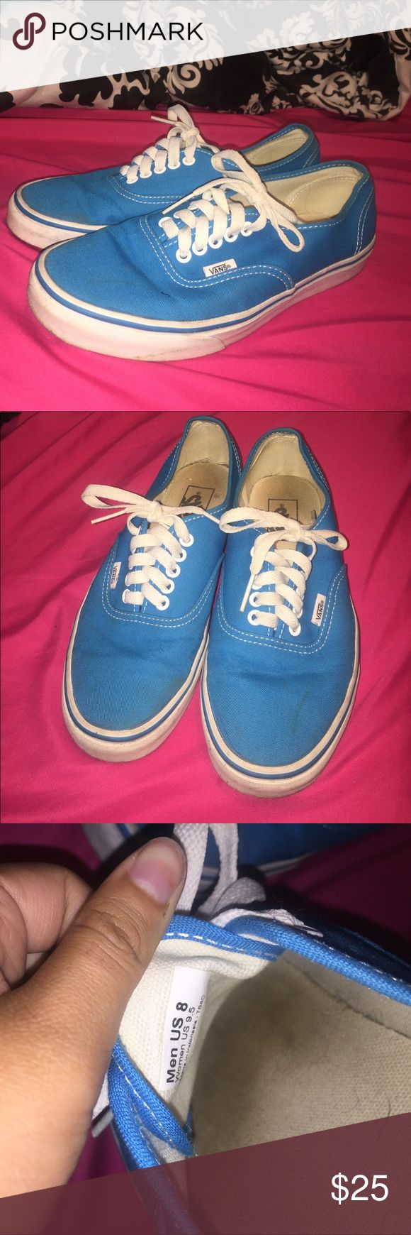 Light blue Vans Mens size 8, Womens size 9.5.  Worn a couple times, they are still in great condition. Vans Shoes Sneakers