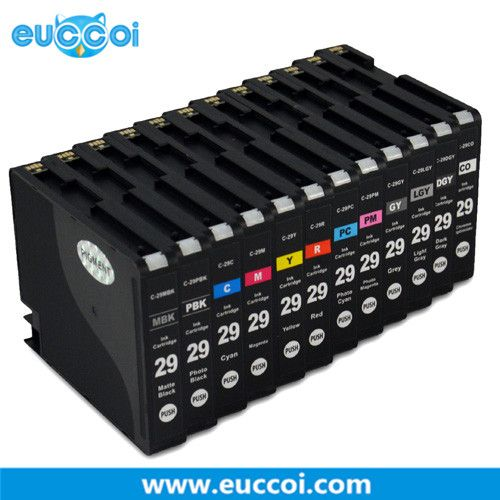 Most sold compatible ink cartridge  Canon PGI-29 ink cartridge with chip and ink USD72.96/SET #CANON PGI-29 ink cartridge# http://www.euccoi.com/canon-pgi29-ink-cartridge_p5201.html