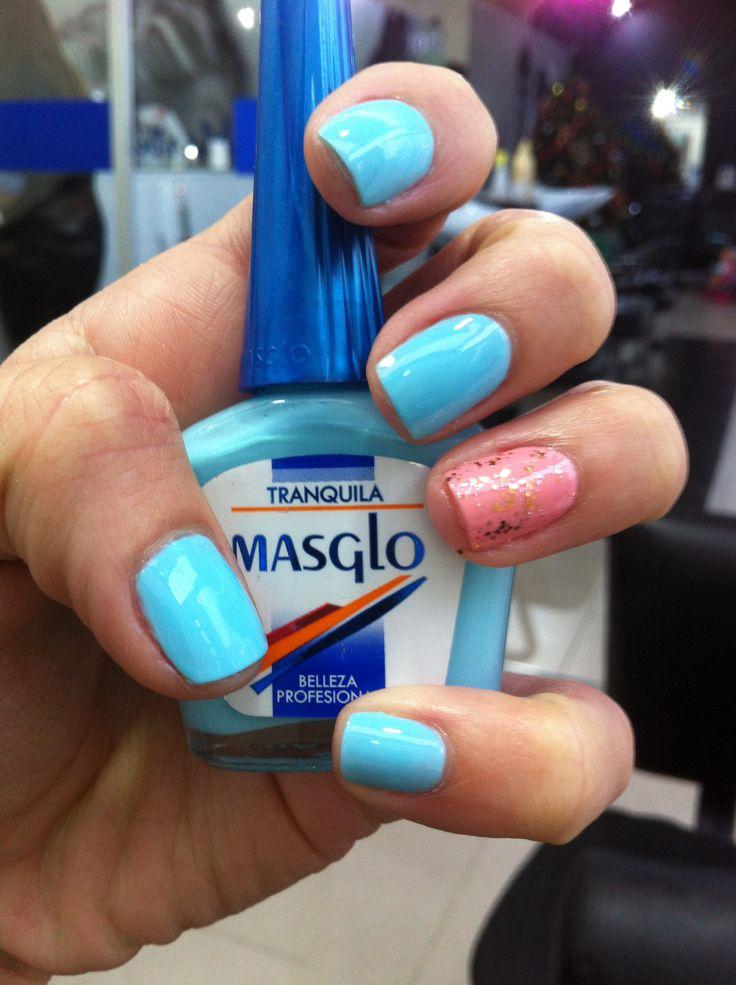 Tranquila - Amorosa y Brillos Escarlata. Masglo Nails