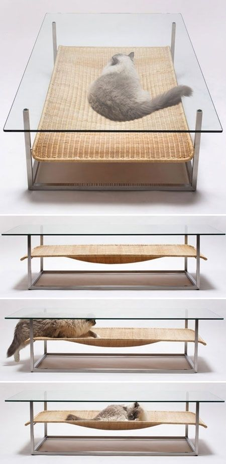 Japanese designers Koichi Futatsumata + Partners of Case-Real tap into this seemingly universal feline impulse with a creative combination facilitating both cat naps and coffee klatsches.   Tiny Homes