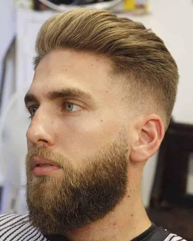 Medium Beard with Fade and Medium Hair