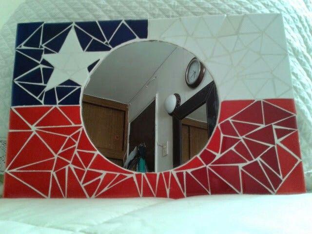 Bandera Chilena en mosaico