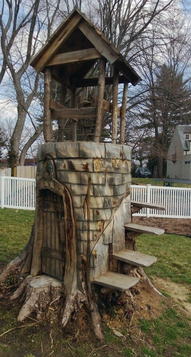 20 Best Images About Tree Stump Ideas On Pinterest