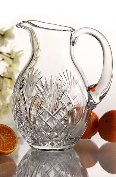 Waterford Pineapple Pitcher. The pineapple is the symbol of hospitality - what a great newlywed or housewarming gift!