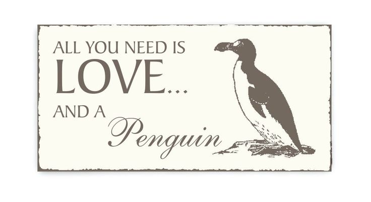 "Shield Shield Design Box ""All you Need is Love and A Penguin"" Penguin Keepsake Wooden Plaque/Sign Door Sign Decoration Bird Ornithologist Zoo Animal Park"