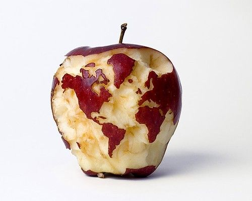 World ...in apple form