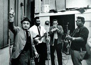 Leonard Chess of Chicago's Chess Records with Muddy Waters, Little Walter, Bo Diddley