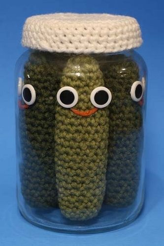 Seriously....who doesn't need a jar of crocheted pickles??