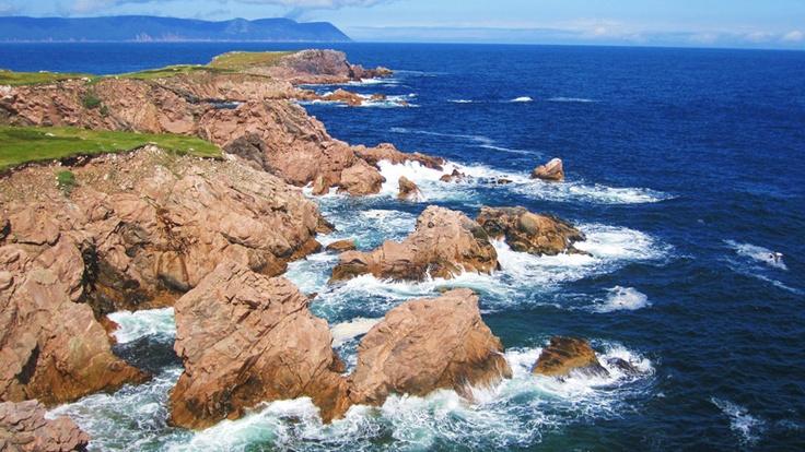 Rugged coastline, White Point, Cape Breton.