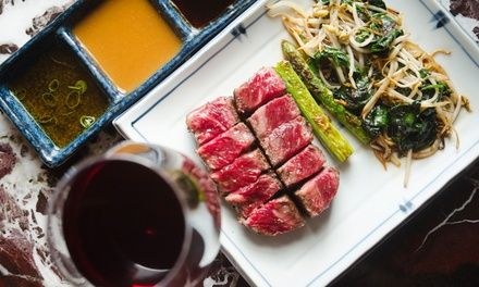 Feast on nine courses including crab salad and Wagyu tataki, and opt to upgrade to Master Kobe Wagyu