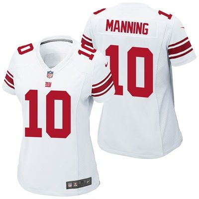 New York Giants Road Game Jersey - Eli Manning - Womens: Get in the game this season with this New York Giants Road Game Jersey - Eli…