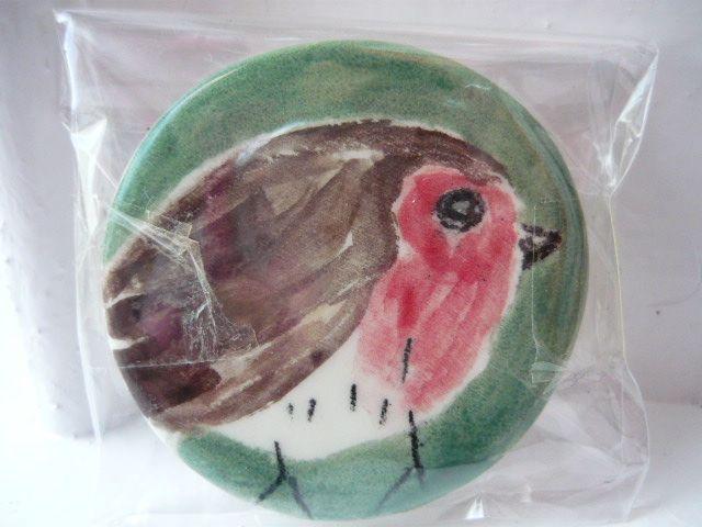 hand made painted ceramic fridge magnet (mara ceramics