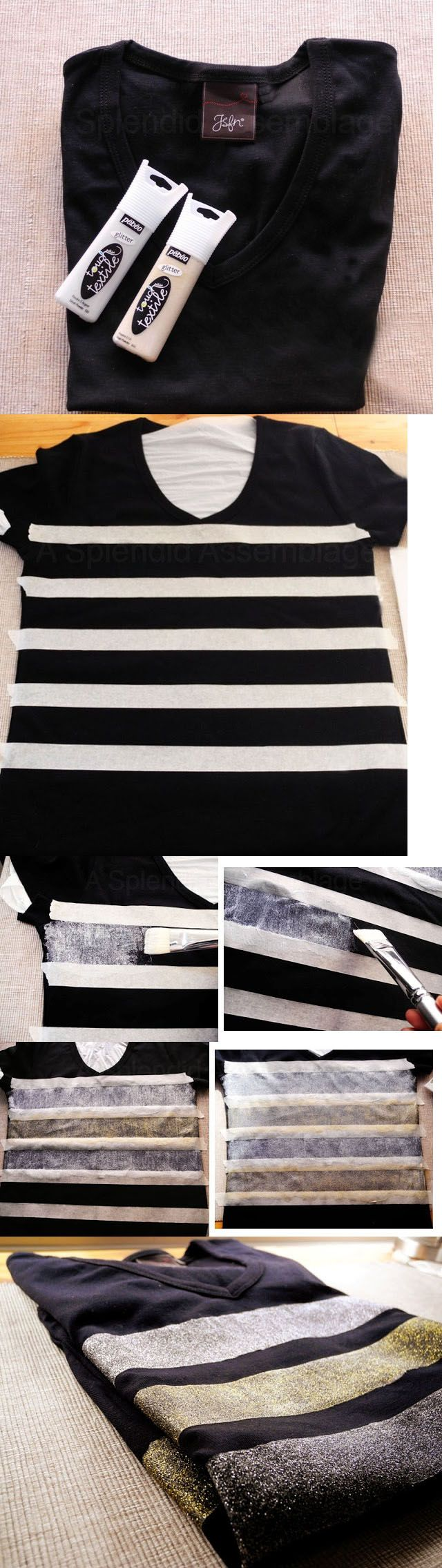 DIY Clothes | Fashionista Pieces - I would do one vertical stripe down the middle