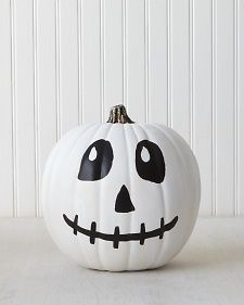 Pumpkin Decorating: Skeletons | Martha Stewart