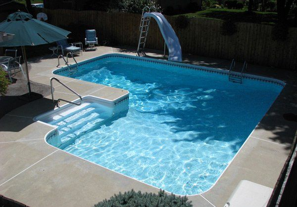 Pool shape; almost a square