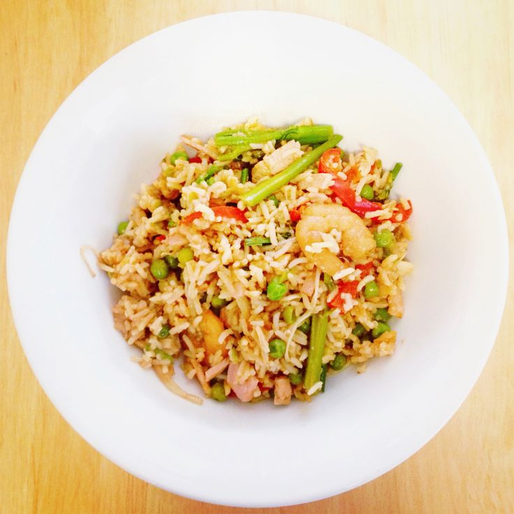 Who needs take-out when you could have healthy fried rice ready in less time! High in protein and lactose free… Yum!