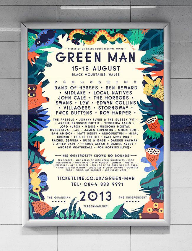 Amazing case study for festival design....including creation of custom font…