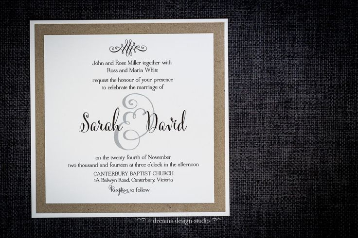 I just 'Can't Help Falling In Love' with this wedding invite