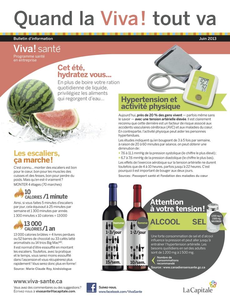 Bulletin Viva! Santé Juin 2013 VIVA Programme santé en entreprise est un programme clé en main, répondant aux besoins des employeurs en matière de prévention, de promotion de la santé et du mieux-être. Composez le 1 844-559-8482 (VIVA), écrivez à viva@lacapitale.com ou visitez http://viva.lacapitale.com/fr