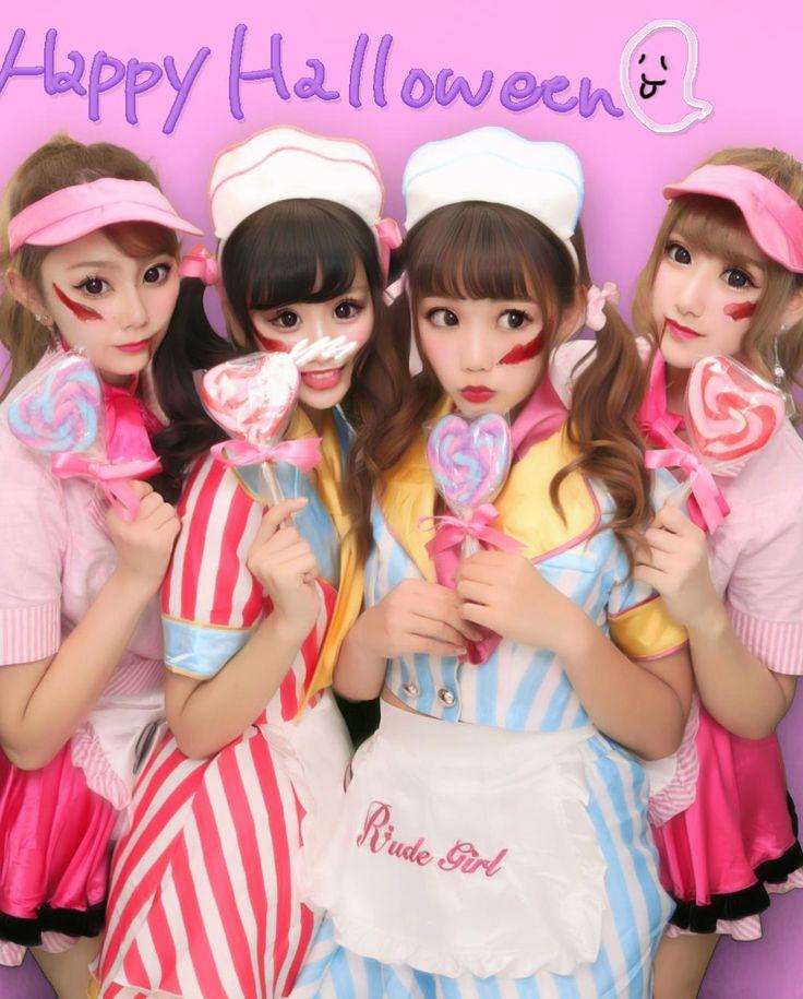 . . . #Halloween #happyHalloween #ハロウィン #ハッピーハロウィン #トリックオアトリート  #渋谷ハロウィン #渋ハロ  #プリクラ #ぷりんと倶楽部 #shibuya #today #pink #waitress #ウエイトレス # #Candy #ゆうりひらり #TBT #twin #friend #friends #ponytail  #コスプレ #仮装 # #like4like #follow4follow