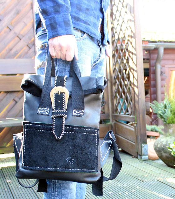 rolltop rucksack selbst gen ht rolltop backpack diy diy made by me pinterest leder. Black Bedroom Furniture Sets. Home Design Ideas