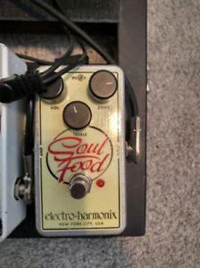 EHX Soul Food transparent overdrive pedal: $60 w/power supply
