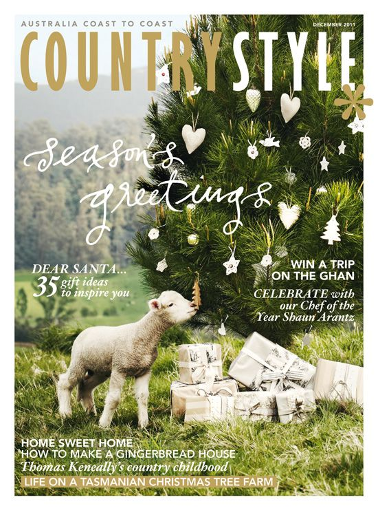 The Maggies: 2012 Magazine Cover of the Year featuring Bernard the Lamb beneath one of big Christmas trees.