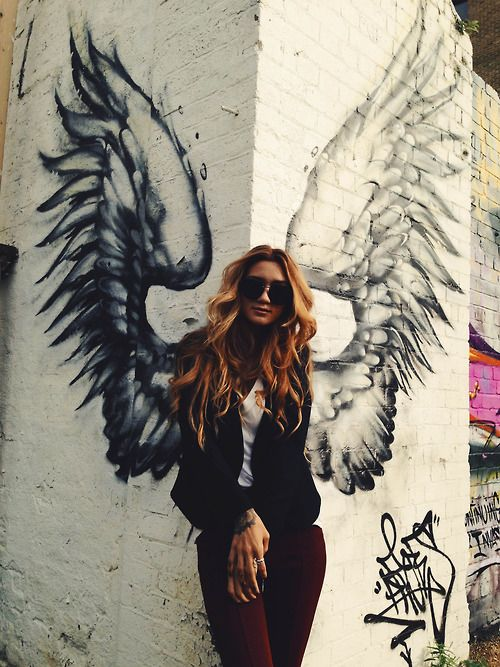 Thinking this would be fun to do in a popular area of town - lots of photo ops.l | If you love wings and angels, follow our Pinterest board here -> http://www.pinterest.com/thevioletvixen/the-wings-of-angels/
