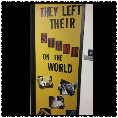 Black History Month Door Decorating Contest Rubric ...