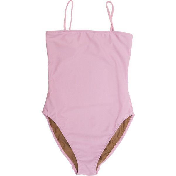 Straight One Piece ❤ liked on Polyvore featuring swimwear, one-piece swimsuits, bathing suits, lingerie, high-waisted bathing suits, swim bathing suits, 1 piece swimsuit, swimming costume and one piece bathing suits