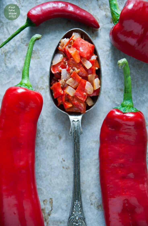 Słodko-pikantny chutney z papryki ramiro / Sweet&spicy ramiro pepper chutney