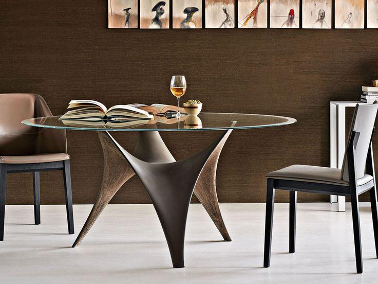Moderner Runder Glasesstisch Ac Molteni. die besten 25+ oval ...