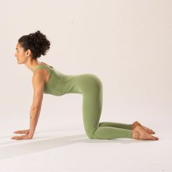 Cat/Cow Pose is great for fertility.  Gentle and safe at any time.  It helps to relax muscles of the low back and abdomen to improve circulation to and align the uterus.