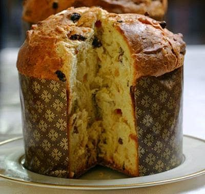 Panettone con chocolate y naranja   -   Panettone with chocolate and orange