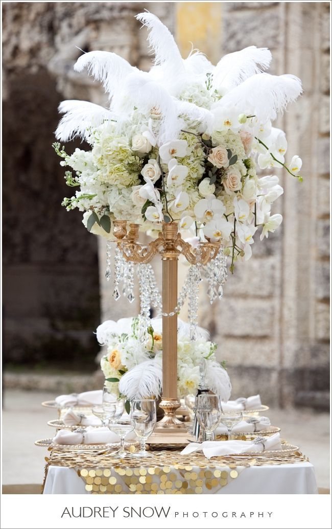 1000 Ideas About Feather Wedding Centerpieces On