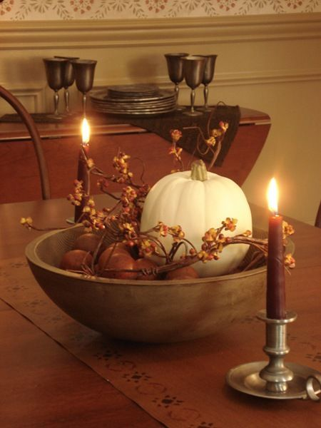 77 best table settings for all occasions images on for Simple pumpkin centerpieces