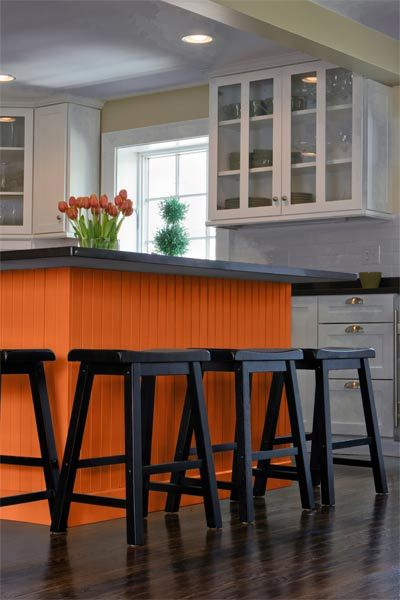 Color Of The Month, April 2014: Celosia Orange. Painted Kitchen ...