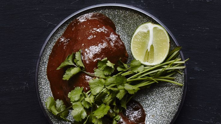This deeply flavored mole recipe gets its traditional flavor from chilhuacle negro chiles.