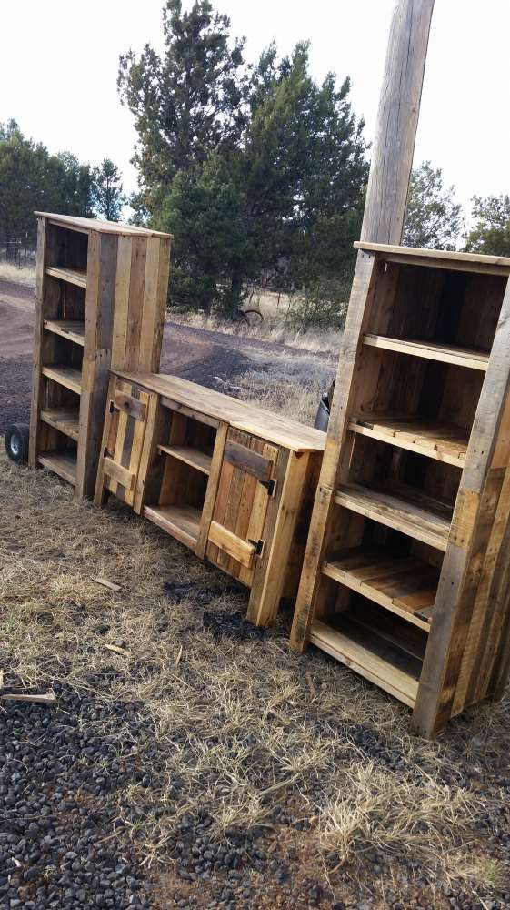 This piece took quite a few pallets and time to make. A great addition to a rustic home.