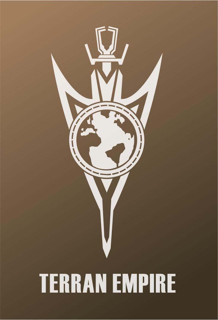 Star Trek Logo Flat Design Terran Empire Mirror Universe (2255 - Discovery)