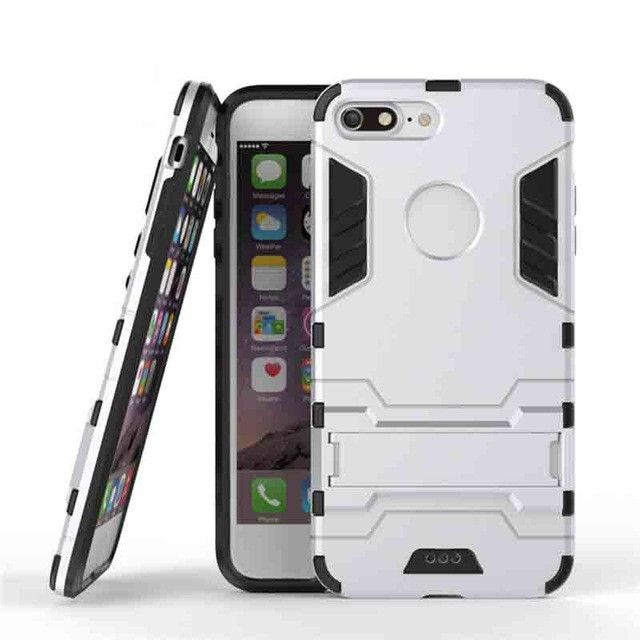 PC+Silicone Iron Man Anti-Shock Kickstand Proof Case For iPhone 5S-7 Plus