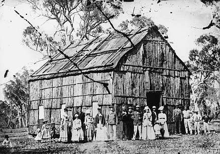 Bark church....(Stanthorpe, Queensland Presbyterian ) 1872
