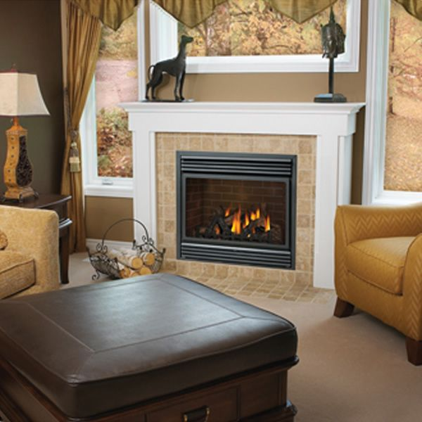 Napoleon Bgd36ntr Direct Vent Gas Fireplace With Bay Front In Spec